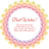 Ornamental round lace background with many details Royalty Free Stock Images