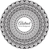 Ornamental round lace background with many details Royalty Free Stock Photos