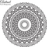 Ornamental round lace background with many details Stock Images