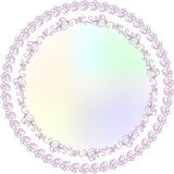 Ornamental Round Lace Border Pattern Royalty Free Stock Image