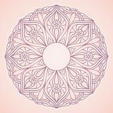 Ornamental round lace. Circle background Stock Photo