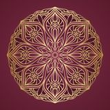 Ornamental round lace. Circle background Royalty Free Stock Image