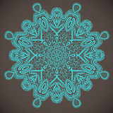 Ornamental round lace, circle background. Vector illustration Royalty Free Stock Photography