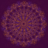 Ornamental round lace, circle ornament. Stock Photography