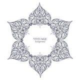 Ornamental round lace, circle ornament vector illustration