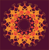Ornamental round lace, circle ornament. Royalty Free Stock Photos