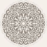 Ornamental round lace. Curl pattern background. Ornamental round lace Royalty Free Stock Photos