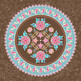 Ornamental round lace. Royalty Free Stock Photography