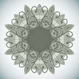 Ornamental round lace in ethnic style Royalty Free Stock Photography