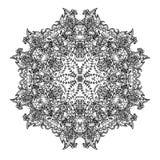 Ornamental round lace stock photos