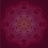 Ornamental round lace floral pattern Royalty Free Stock Photography