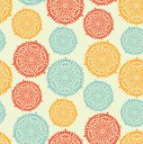 Ornamental round lace Stock Images