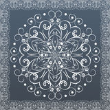 Ornamental round lace, flower. vector Royalty Free Stock Image