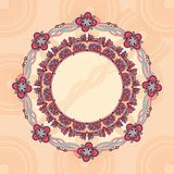 Ornamental round lace frame. Stock Images