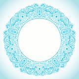 Ornamental round lace frame. Background for celebrations, holida Stock Photo