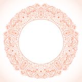 Ornamental round lace frame. Background for celebrations, holida Stock Images