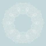 Ornamental round lace frame. Background for celebrations, holida Stock Images