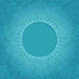 Ornamental round lace frame. Background for celebrations, holida Stock Image