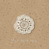 Ornamental round lace frame. Background for celebrations, holida Royalty Free Stock Photo