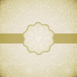 Ornamental round lace frame. Background for celebrations, holidays, sewing, arts, crafts, scrapbooks, setting table, cake decorati Stock Photography