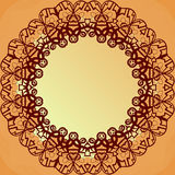 Ornamental round lace frame for text, blank banner Royalty Free Stock Photo