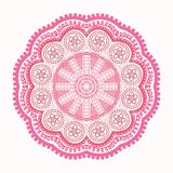 Ornamental round lace patterт Stock Image