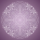 Ornamental round lace pattern Royalty Free Stock Photos