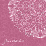 Ornamental round lace pattern Royalty Free Stock Photography