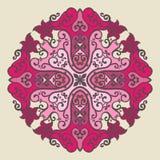 Ornamental round lace pattern Stock Photography