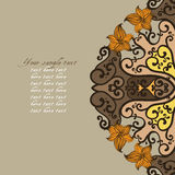 Ornamental round lace pattern Royalty Free Stock Image