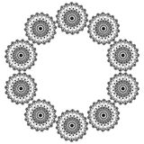 Ornamental round lace pattern. Abstract ornament Stock Image