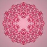 Ornamental round lace pattern, circle background Royalty Free Stock Photo