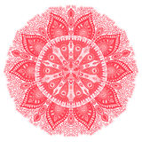 Ornamental round lace pattern, circle background with many detai Royalty Free Stock Image