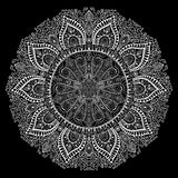 Ornamental round lace pattern, circle background with many detai Royalty Free Stock Images