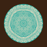 Ornamental round lace pattern, circle background with many detai Stock Photos