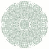 Ornamental round lace pattern, circle background with many detai Royalty Free Stock Photo