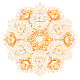 Ornamental round lace pattern, circle background with many detai Royalty Free Stock Photos