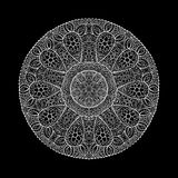 Ornamental round lace pattern, circle background with many detai Royalty Free Stock Photography