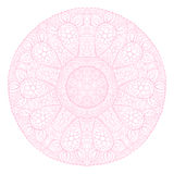 Ornamental round lace pattern, circle background with many detai Stock Image