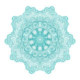 Ornamental round lace pattern, circle background with many detai Stock Images