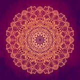 Ornamental round lace pattern, circle background with many detai Stock Photo