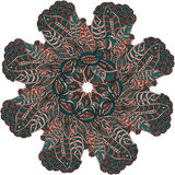 Ornamental round lace pattern. Circle background with many details Royalty Free Stock Images