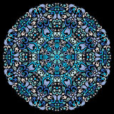 Ornamental round lace pattern, circle background Stock Image