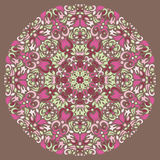 Ornamental round lace pattern, circle background Stock Images