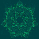 Ornamental round lace pattern, circle background with many details Stock Photography