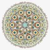 Ornamental round lace Stock Photos