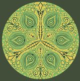 Ornamental round lace Stock Image