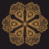 Ornamental round lace Royalty Free Stock Photo