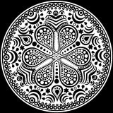 Ornamental round lace Royalty Free Stock Images