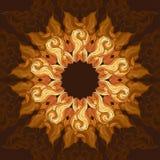 Ornamental round lace pattern, circle background with many details, ornate mandala style. Royalty Free Stock Photo